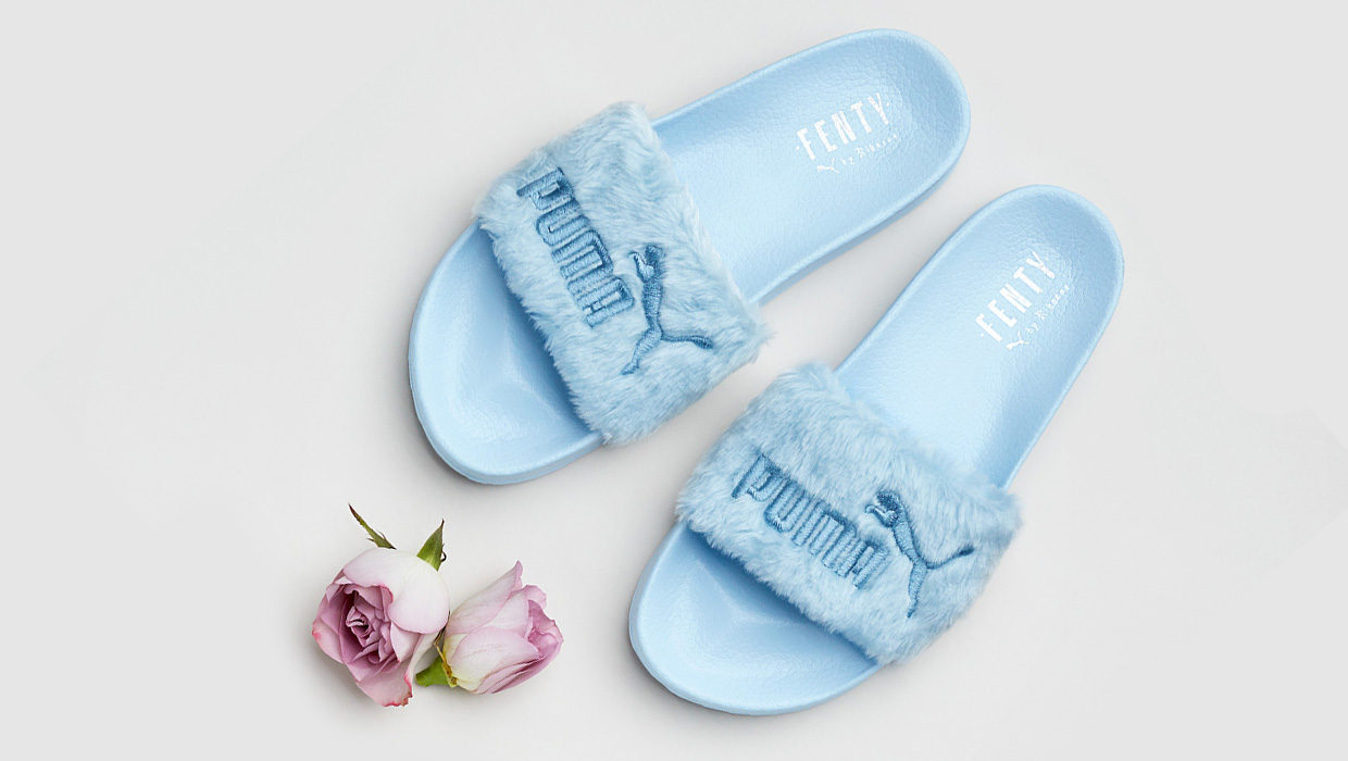 differently 2c323 8b0a8 FENTY X PUMA Fur Slides