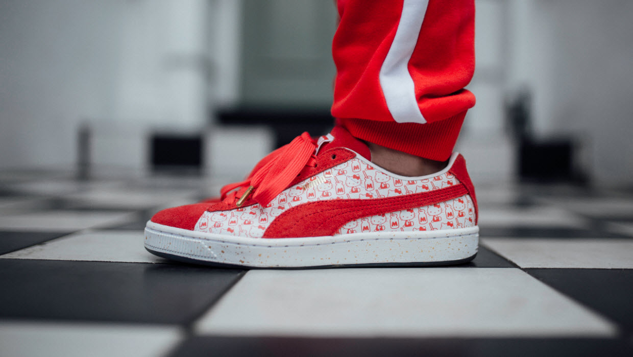 finest selection 39355 c1701 Puma Suede X Hello Kitty