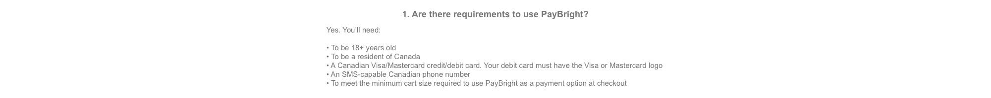 PayBright FAQ