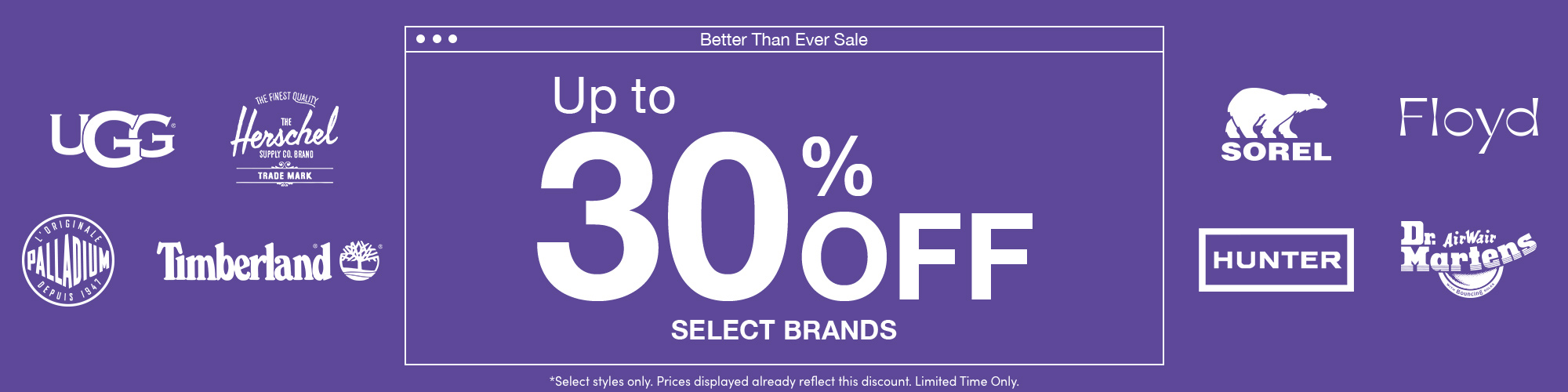 SHOP UP TO 30% OFF SELECT BRANDS