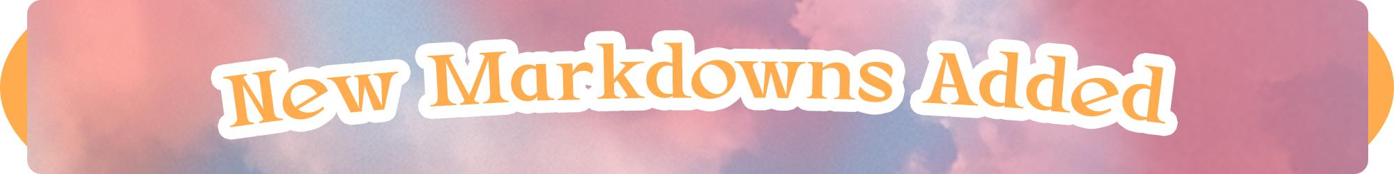 New Markdowns May