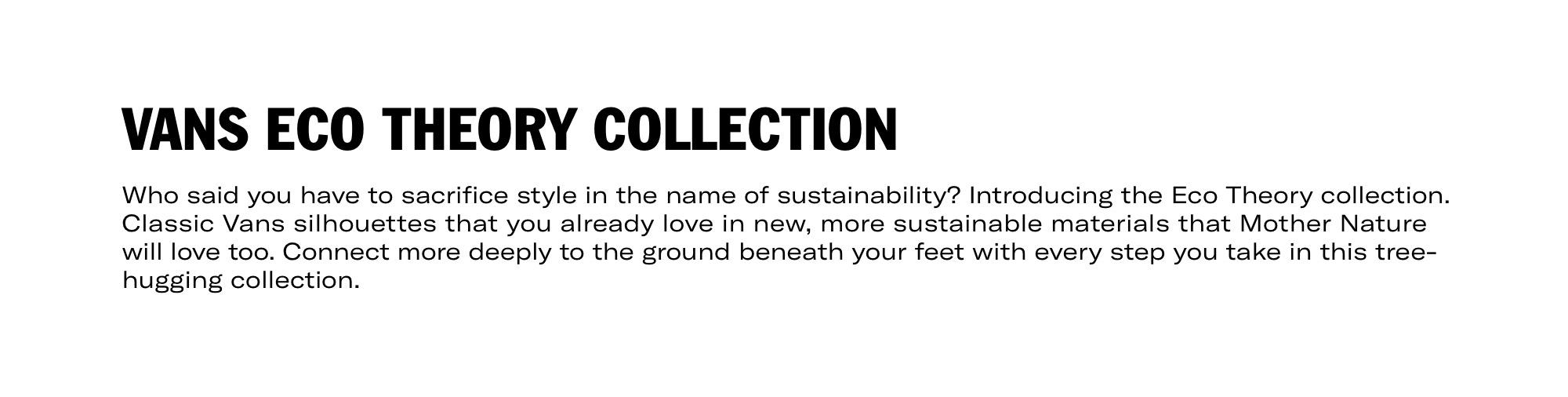 Vans Eco Theory