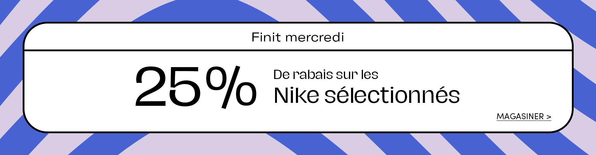 Nike 25% de rabais
