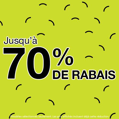 Jusqu'à 70% de rabais pour hommes