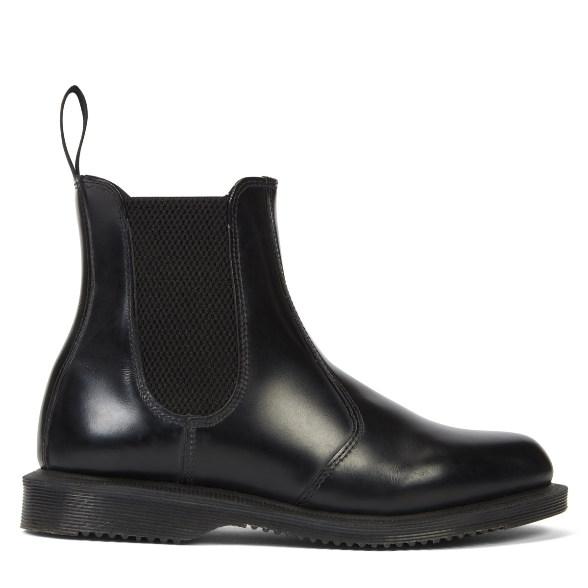 Women's Flora Smooth Leather Chelsea Boot in Black