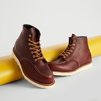Men's 6/Inch Classic Moc Boots in Dark Brown