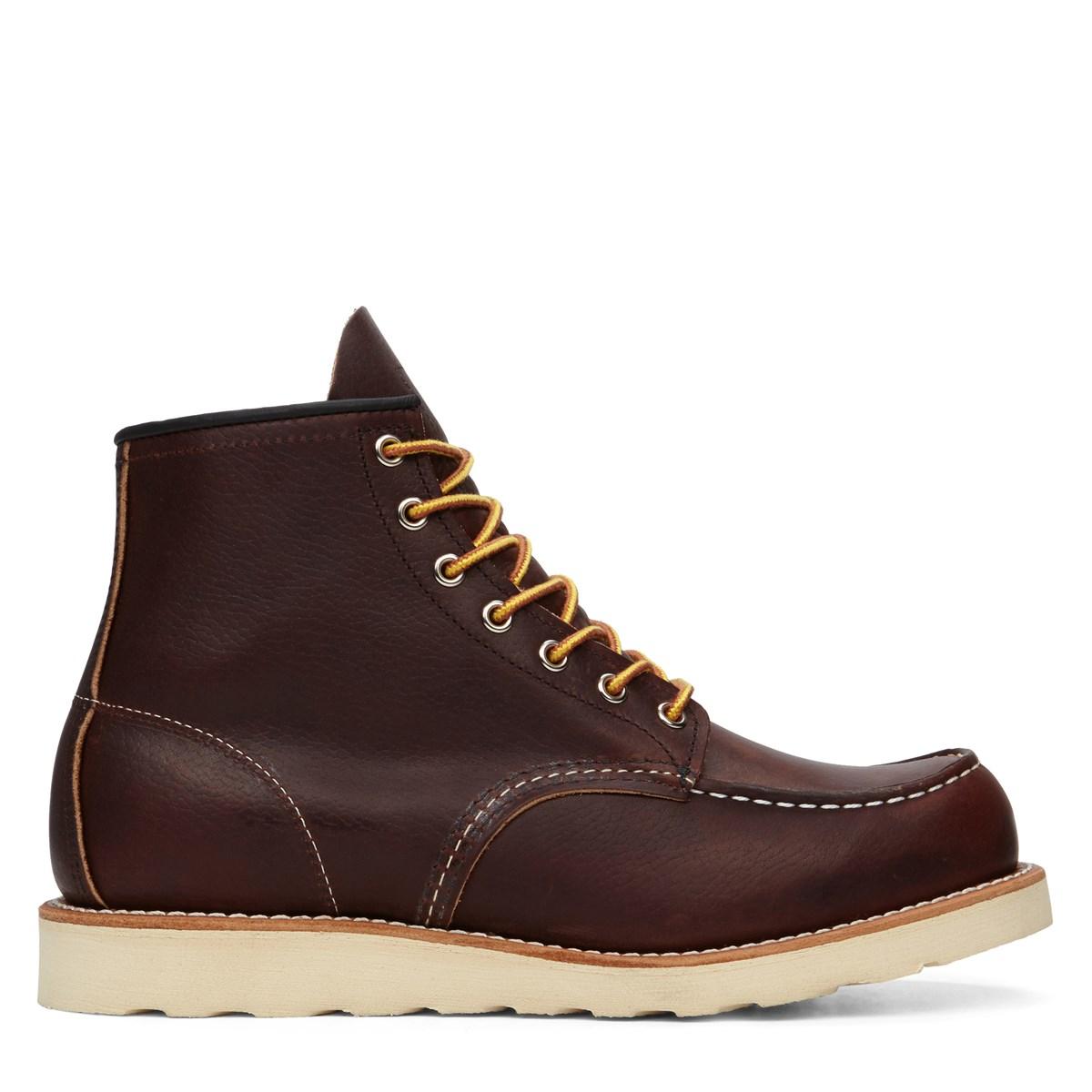 Bottes 6 Moc classiques en cuir brun pour hommes
