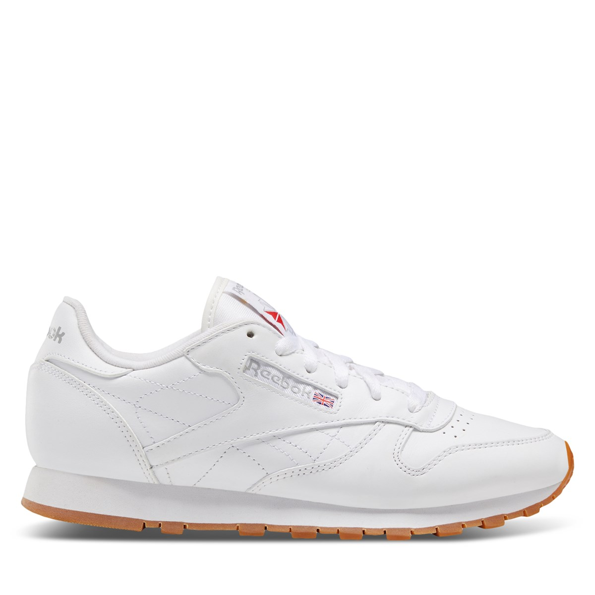 59150d8f6d875 Women s Classic Leather White Sneaker. Previous. default view ...