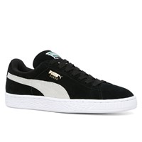 Women's Suede Classic+ Sneakers in Black