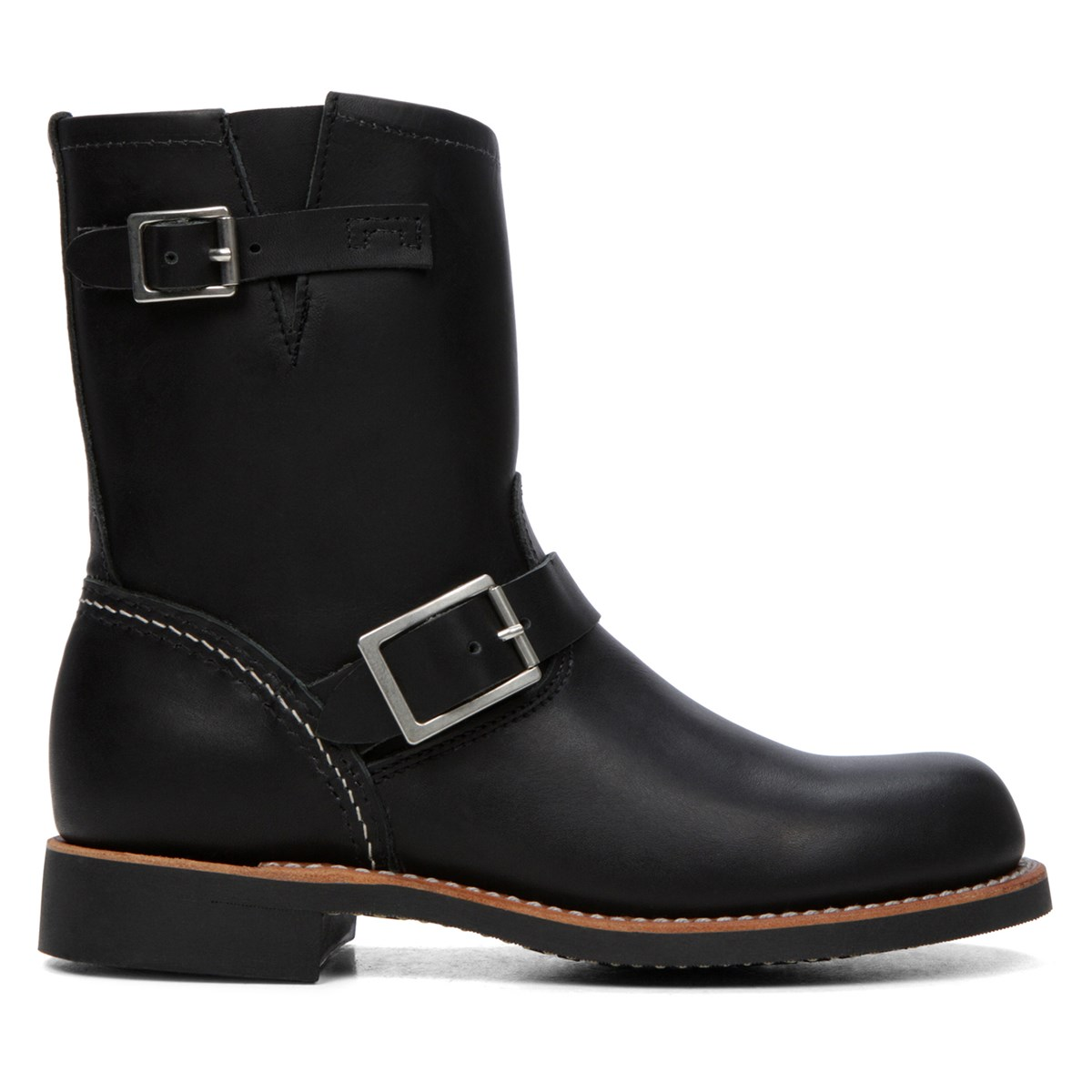 Women's Short Engineer Black Boot