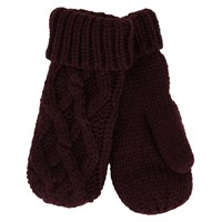Iris Bordeaux Knit Mittens