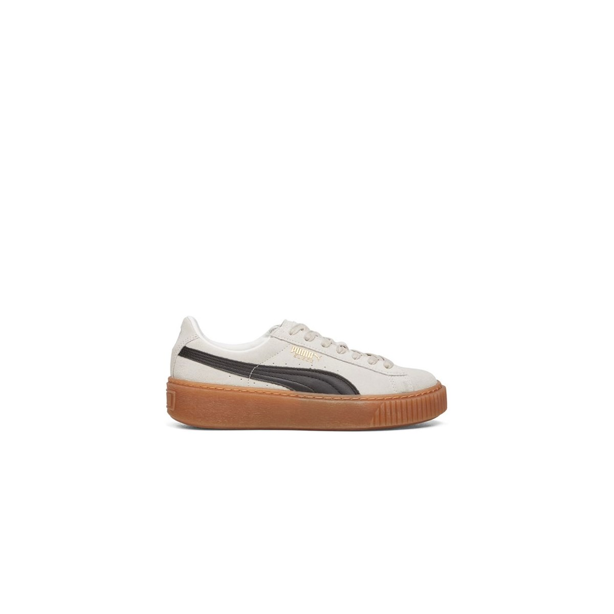 Women's Suede Platform Core White/Black Sneaker