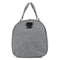 Novel Weekender Duffle Bag in Dark Grey and Tan