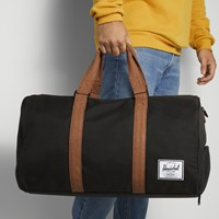 Novel Weekender Duffle Bag in Black and Tan