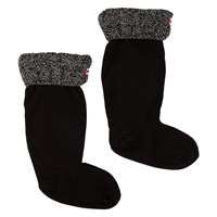 Women's Six-Stitch Cable Black Boot Sock