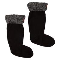 Chaussons longs Six-Stitch Cable noirs pour femmes
