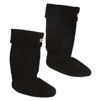 Women's Fleece Welly Black Boot Sock
