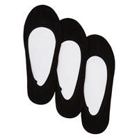 3 paires de socquettes Solid Foot liner 6K noires