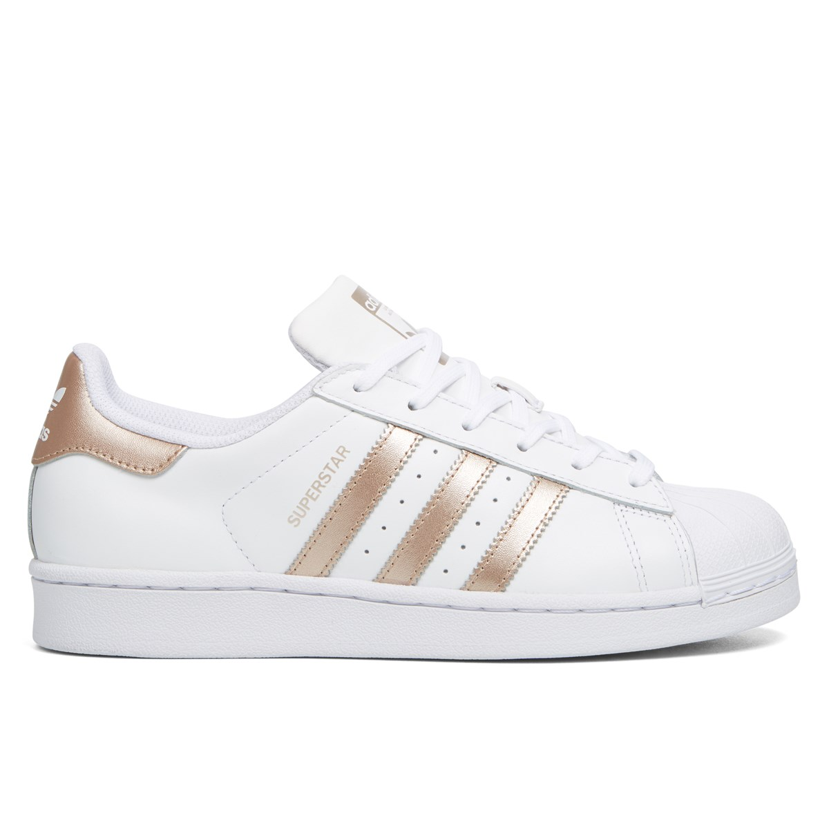 6923d8d1ddff Women s Leather Superstar Sneaker in White and Rose Gold