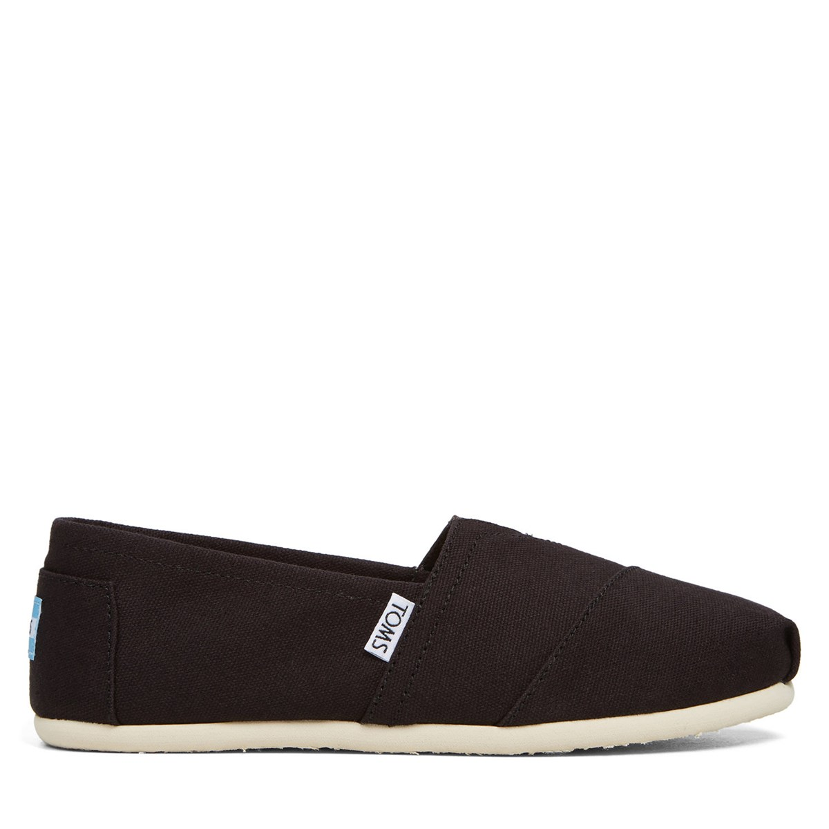 Women's Alpargata Canvas Slip-Ons in Black