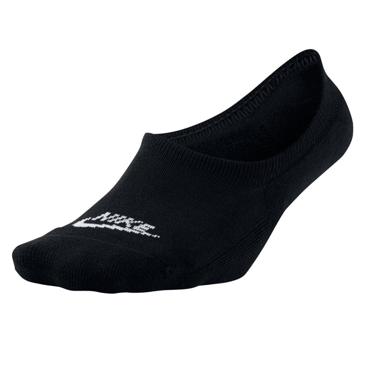 Women's No Show 3-Pack Black Socks