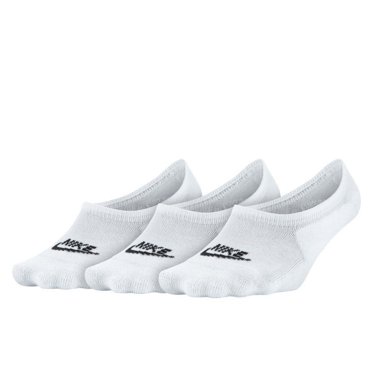 Women's No Show 3-Pack White Socks
