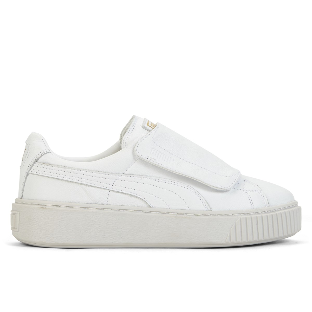 c3b3927c7ea Women s Basket Platform Strap Puma White Sneaker. Previous. default view ...