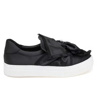 Women's Azurra Black Satin Sneaker
