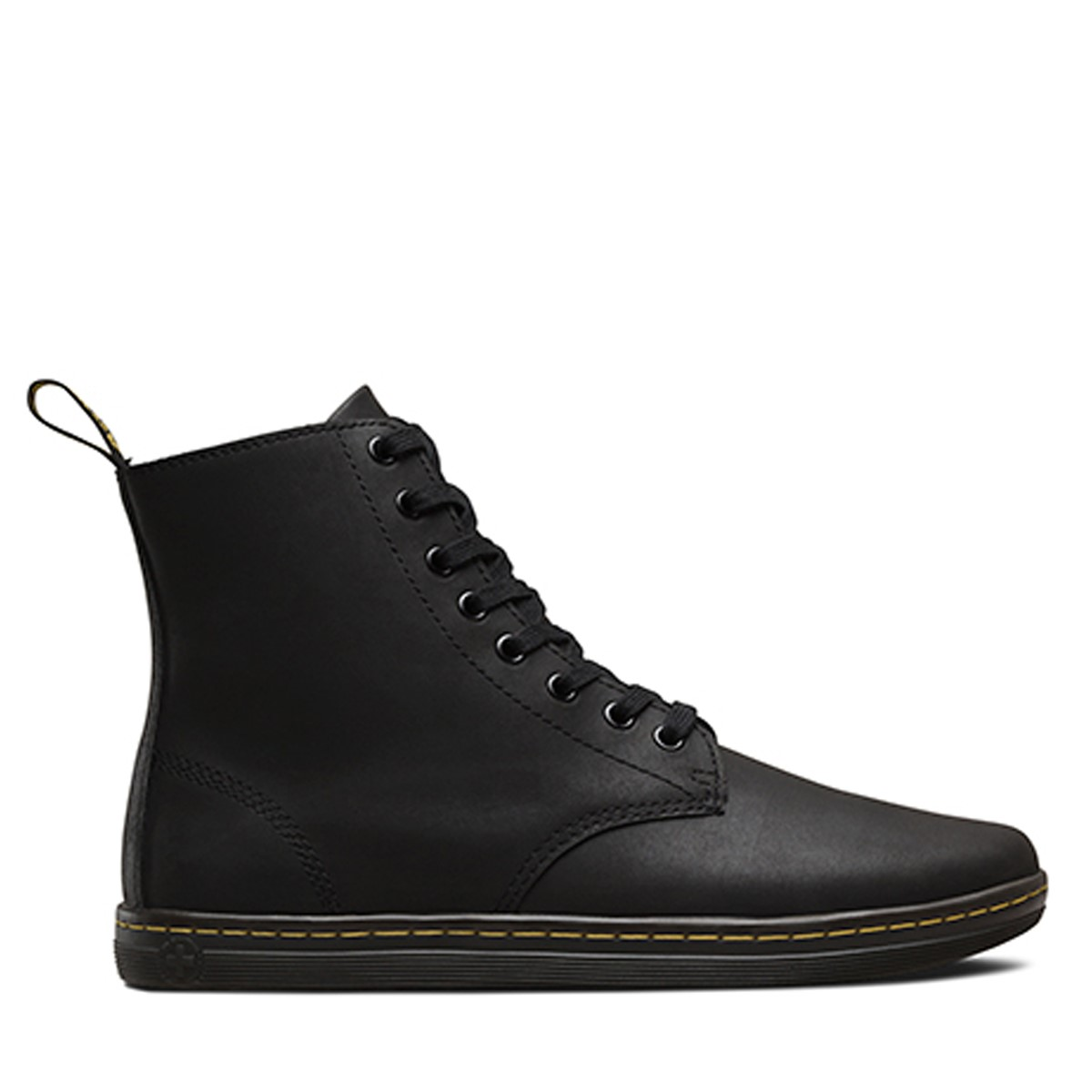 Men's Tobias Greasy Leather Boots in Black