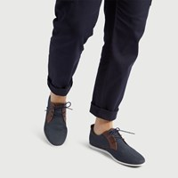 Men's Luis Lace-Up Shoes in Navy Denim
