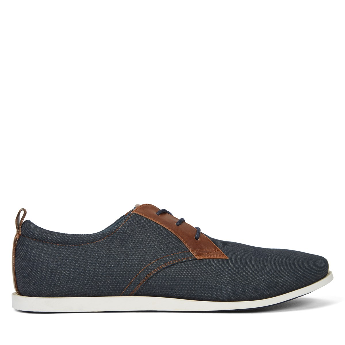 Men's Luis Navy Denim Lace-Up Shoe