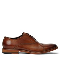 Men's Lotte Leather Lace-Up Shoes in Tan Burnished