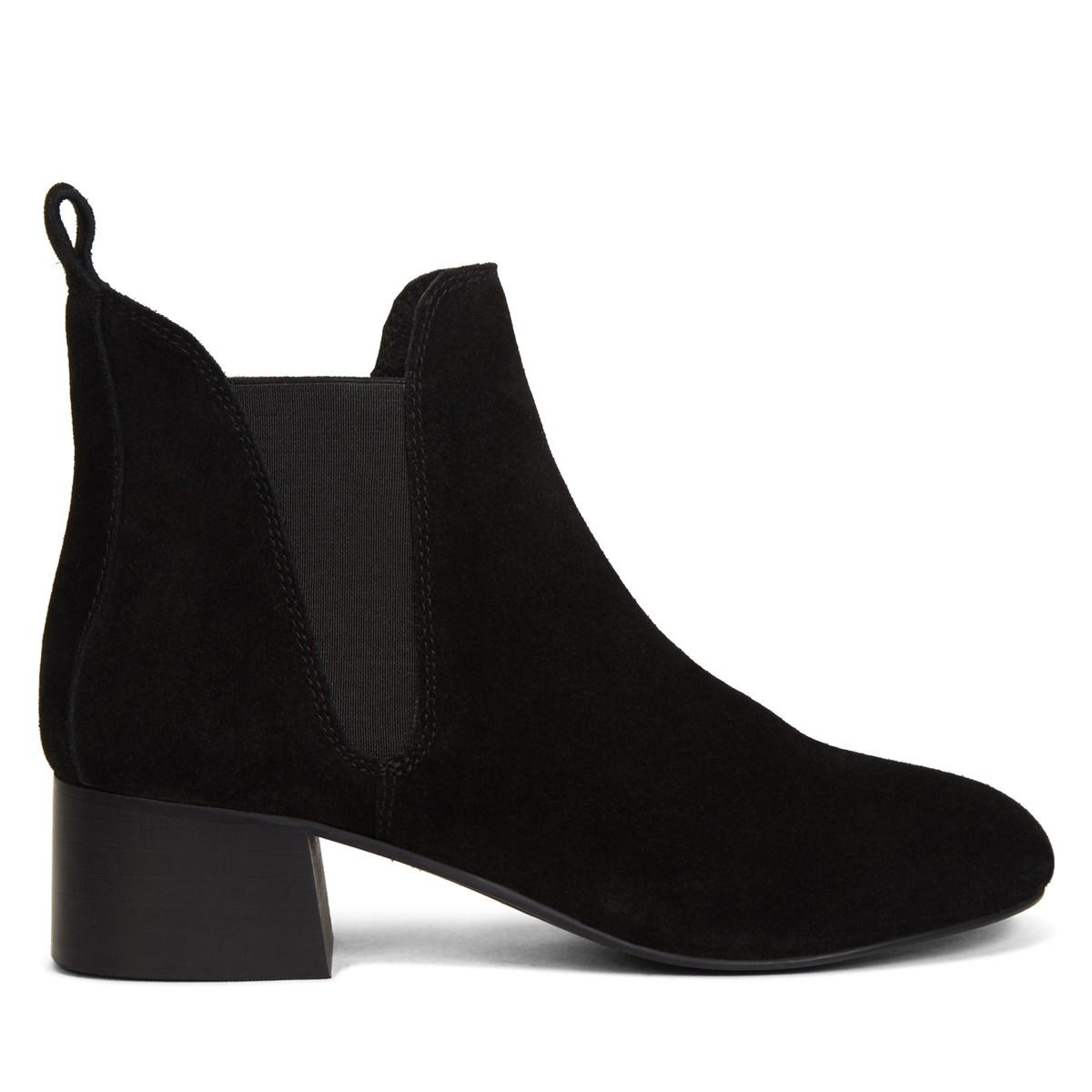 Women's Violet Black Suede Boots