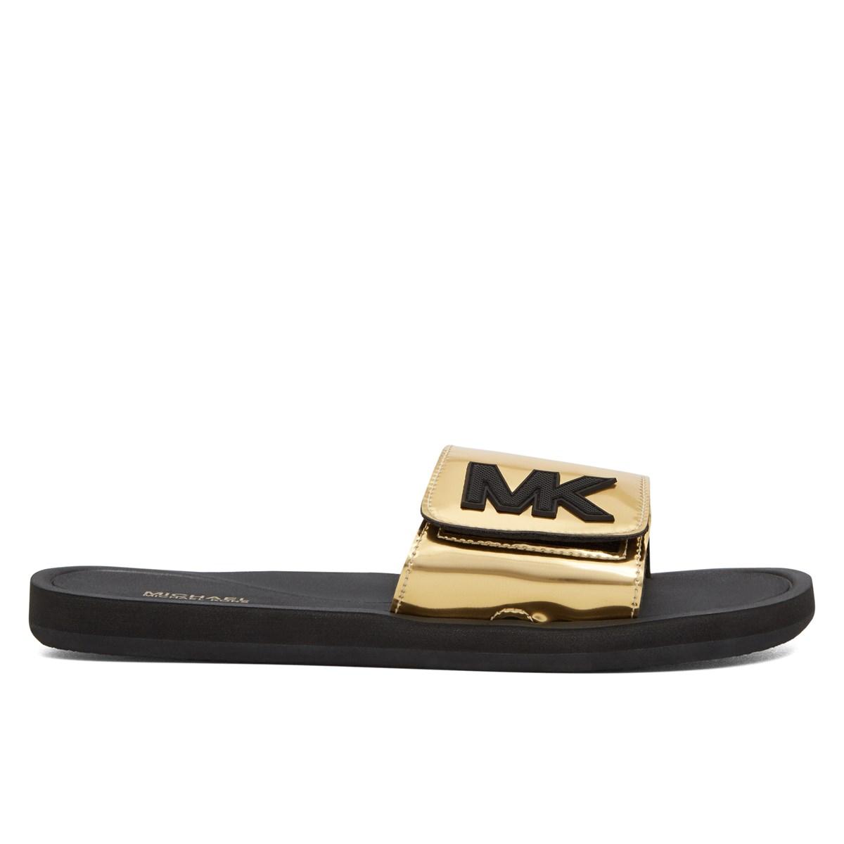 34c4c803f1d7 Women s MK Slide On Gold Slides. Previous. default view