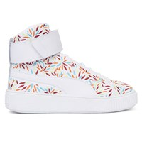 Women's Mid Kiku Platform Sneakers in White