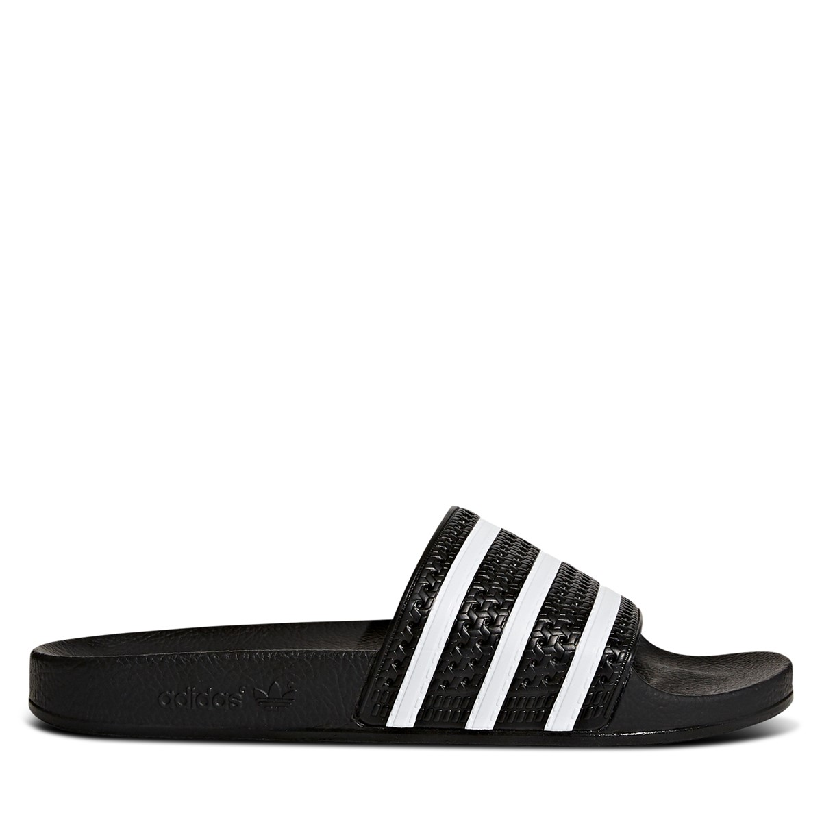 Adilette Black & White Slides