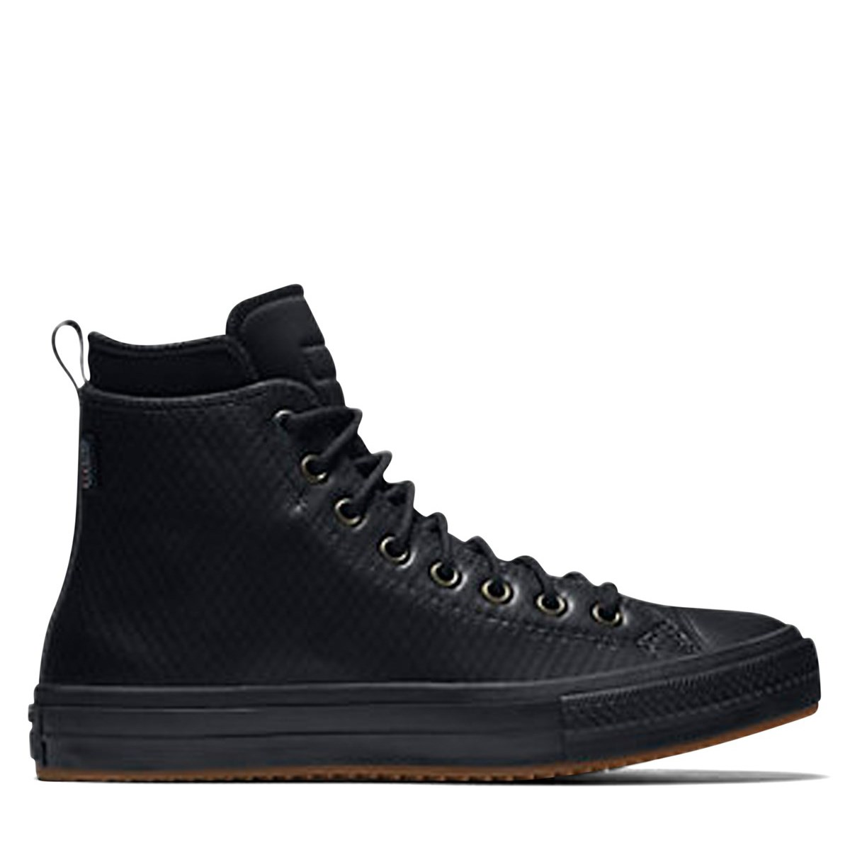 9962cd4694fb Waterproof Men s Chuck Taylor Mesh Backed Black Leather Boot. Previous.  default view