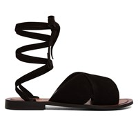 Women's Spiral Black Sandal