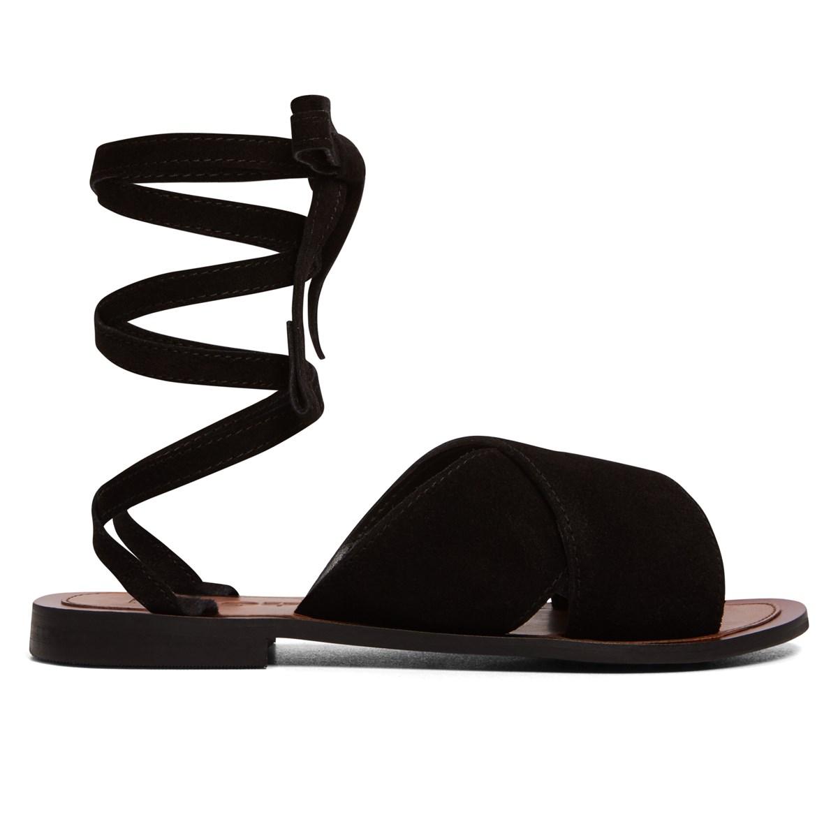 Sandales à spirale en noir pour femmes