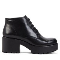 Women's Dioon Lace-Up Black Boot