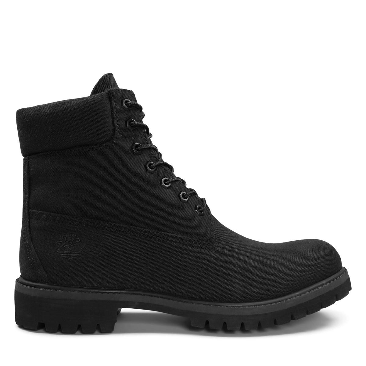 best shoes exclusive deals Good Prices Men's 6 Inch Premium Canvas Black Boots
