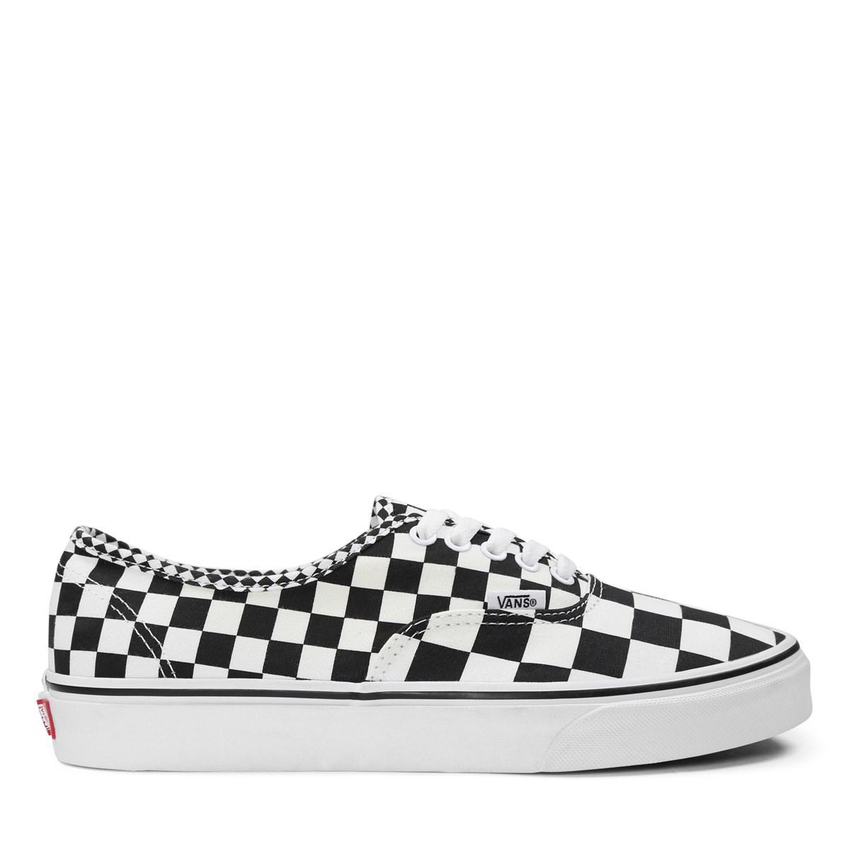 ea177b6b3728 Men s Authentic Mix Checker Black Sneaker. Previous. default view ...