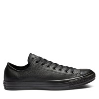 Chuck Taylor All Star Mono Leather Low Top Sneakers in Black