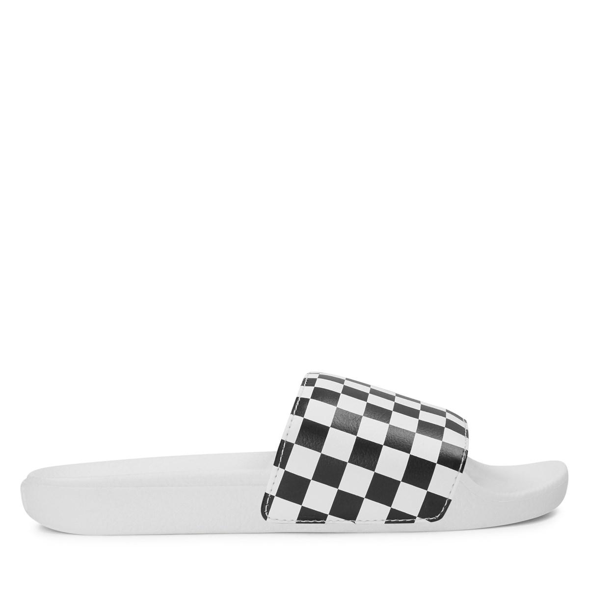 Women's Checkerboard Slides