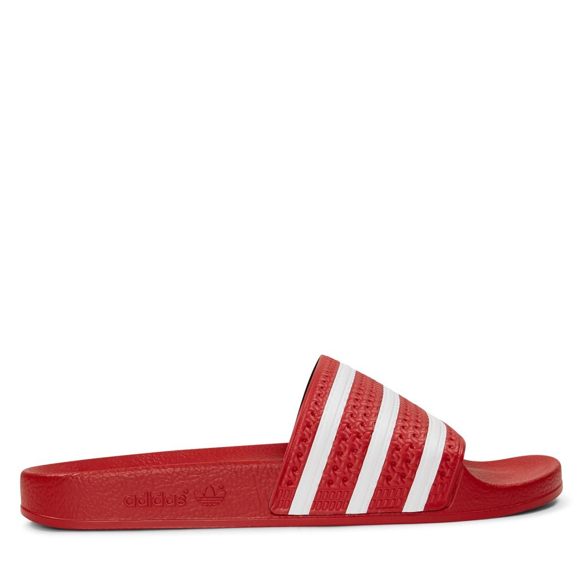 Adilette Red Slides