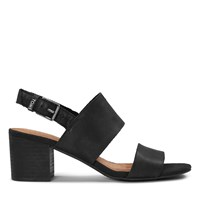 Women's Poppy Black Leather Sandal