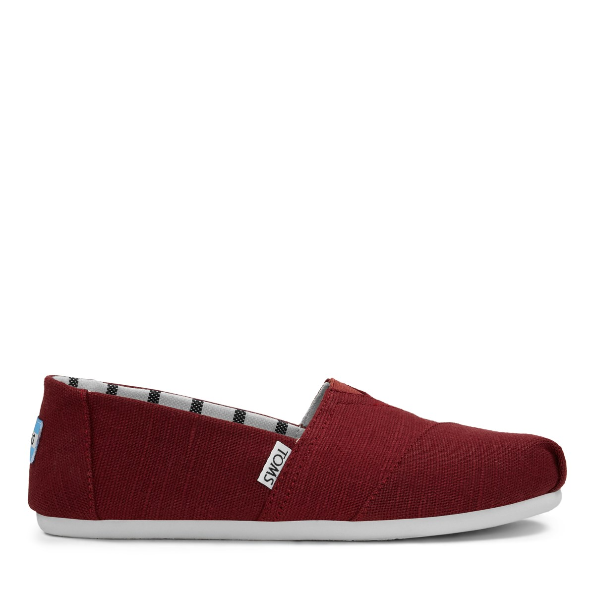 Women's Alpargata Slip-Ons in Cherry Red