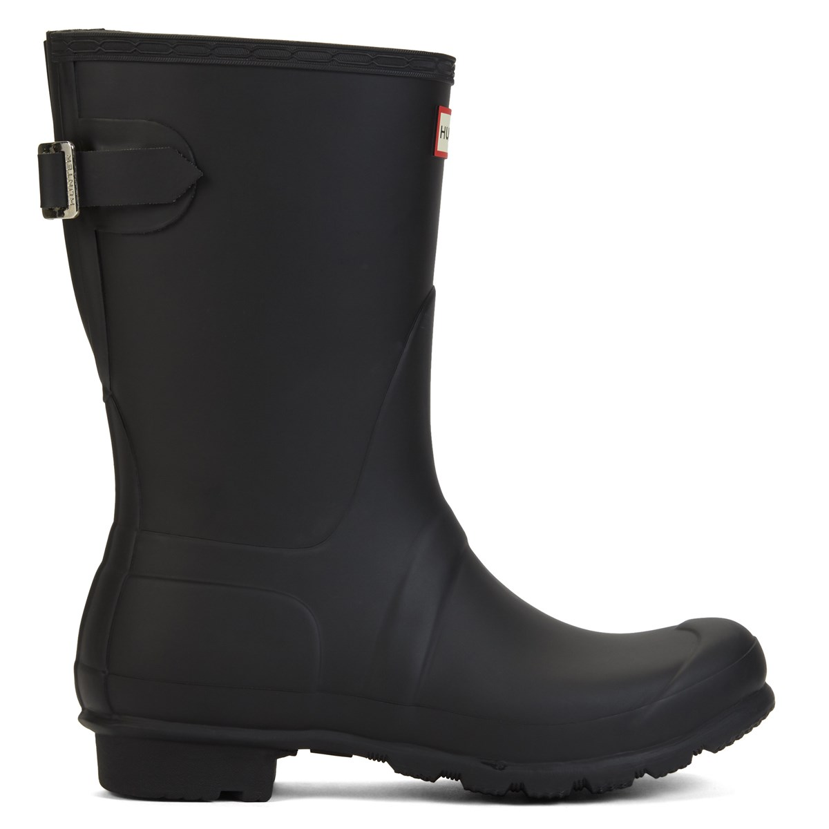 Women's Original Short Adjustable Rain Boots in Black