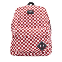 Old Skool II White/Red Checkerboard Backpack