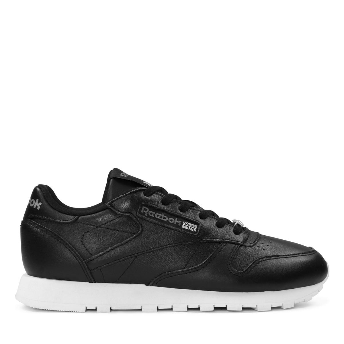 Women's LTHR HW Black Sneaker